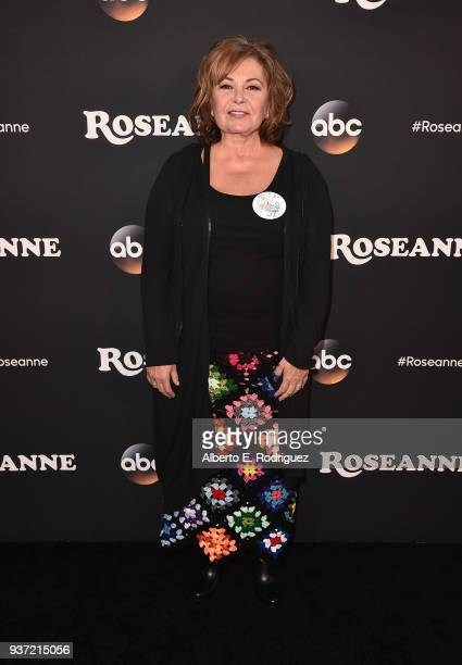 Roseanne Barr attends the premiere of ABC's Roseanne at Walt Disney Studio Lot on March 23 2018 in Burbank California