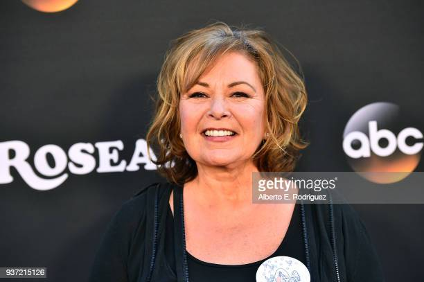 Roseanne Barr attends the premiere of ABC's 'Roseanne' at Walt Disney Studio Lot on March 23 2018 in Burbank California