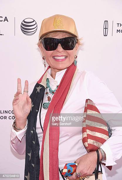 Roseanne Barr attends the World Premiere Documentary 'Roseanne For President' during the 2015 Tribeca Film Festival at SVA Theatre 1 on April 18 2015...