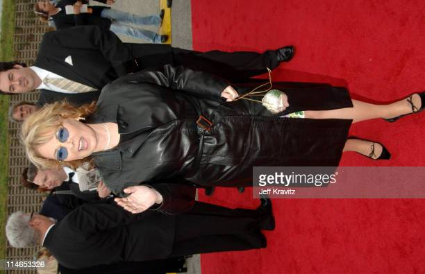 Roseanne Barr during 2005 TV Land Awards Red Carpet at Barker Hangar in Santa Monica California United States