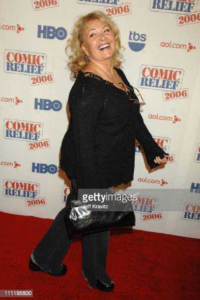 Roseanne Barr during HBO AEG Live's 'The Comedy Festival' Comic Relief 2006 Red Carpet at Caesars Palace in Las Vegas Nevada United States