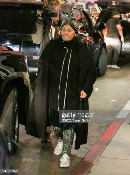 Roseanne Barr is seen at LAX on April 02 2018 in Los Angeles California