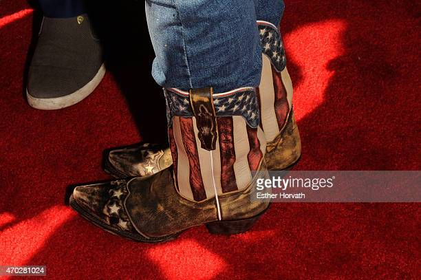 Roseanne Barr shoe detail attends the world premiere documentary 'Roseanne For President' during the 2015 Tribeca Film Festival at SVA Theatre 1 on...