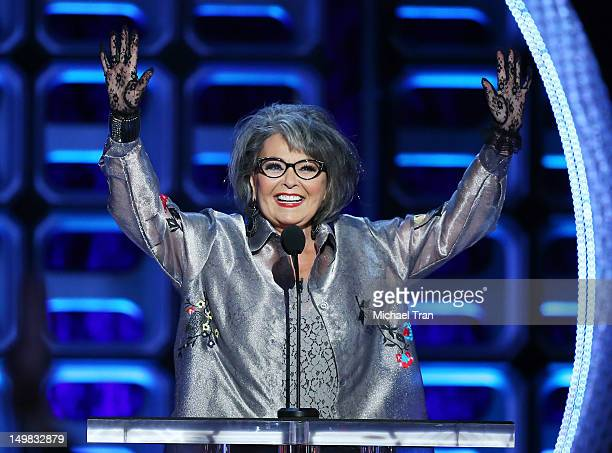 Roseanne Barr speaks onstage at the Comedy Central Roast of Roseanne Barr held at Hollywood Palladium on August 4 2012 in Hollywood California