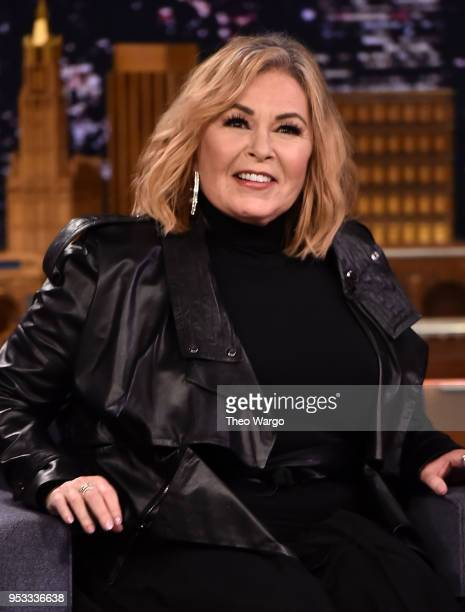 "Roseanne Barr Visits ""The Tonight Show Starring Jimmy Fallon"" on April 30, 2018 in New York City."