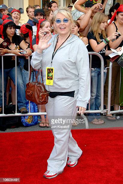 Roseanne during 'Pirates of the Caribbean Dead Man's Chest' Los Angeles Premiere Arrivals at Disneyland/Main Street in Anaheim California United...