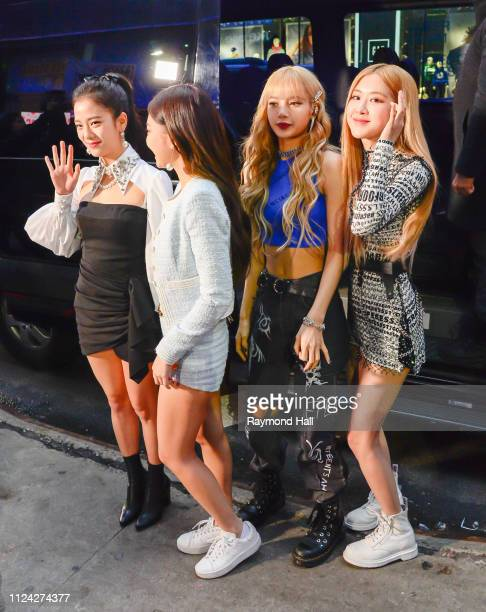 BLACKPINK Roseanne ParkLalisa ManobanJennie Kim and Kim Jisoo are seen outside good morning america on February 12 2019 in New York City