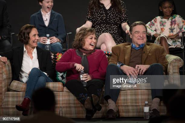 TOUR 2018 Roseanne Session The cast and executive producers of Roseanne addressed the press at Disney | Walt Disney Television via Getty Images...