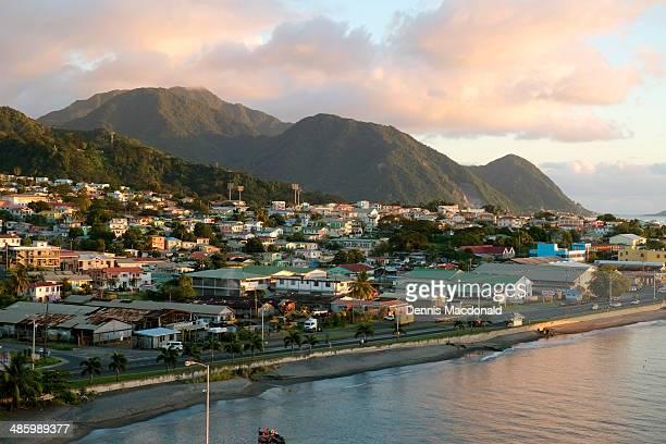 roseau, dominica - dominica fotografías e imágenes de stock