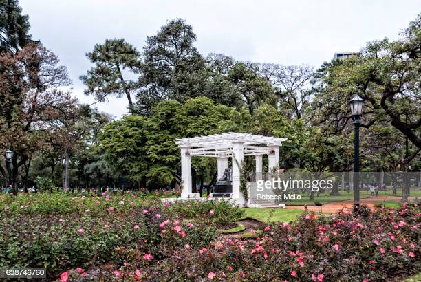 rosedal park, a view - palermo buenos aires stock photos and pictures