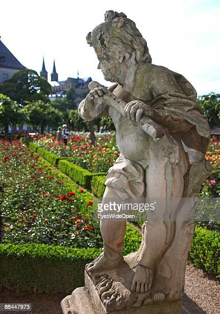Rosegarden of the New Residence on June 11 2009 in Bamberg Germany Bamberg is listed as a World Heritage by UNESCO