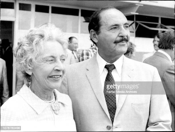 Rosehill Race meeting.Happy part-owners of Helmsman, winner of race two: Mr. And Mrs. A.H. Freedman. March 08, 1975. .