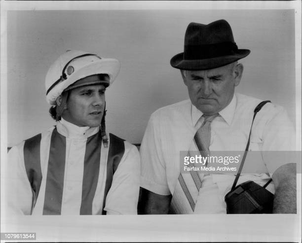 Jockey J Marshall and trainer J DenhamJack Denham the trainer of ***** the opening event at Rosehill yesterday The pair didn't have reason to smile...