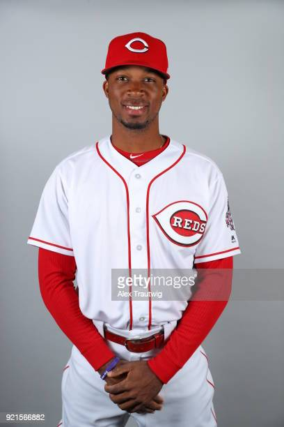 Rosell Herrera of the Cincinnati Reds poses during Photo Day on Tuesday February 20 2018 at Goodyear Ballpark in Goodyear Arizona