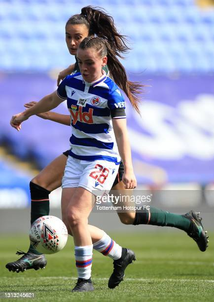 Rosella Ayane of Tottenham Hotspur and Lily Woodham of Reading during the Vitality Women's FA Cup Fourth Round match between Reading Women and...