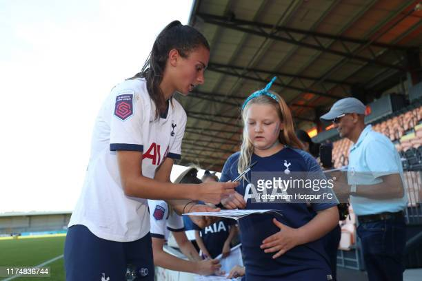 Rosella Ayane of Tottenham Hotspur Women during the Barclays FA Women's Super League match between Tottenham Hotspur and Liverpool at The Hive on...