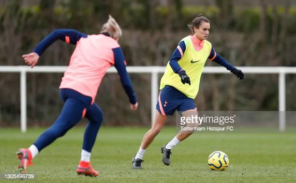 Rosella Ayane of Tottenham Hotspur Women during the Tottenham Hotspur Women training session at Tottenham Hotspur Training Centre on March 05, 2021...