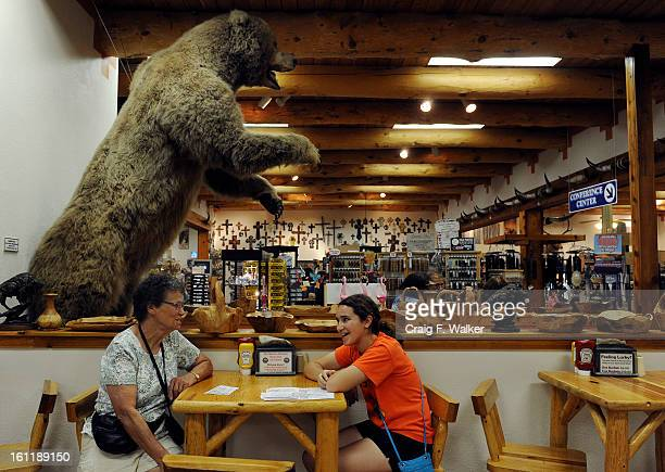 Rosella Fritsch and her granddaughter Ella Valleroy sit in the cafe at the Garden of the Gods Trading Post in Manitou Springs CO Friday July 06 2012...
