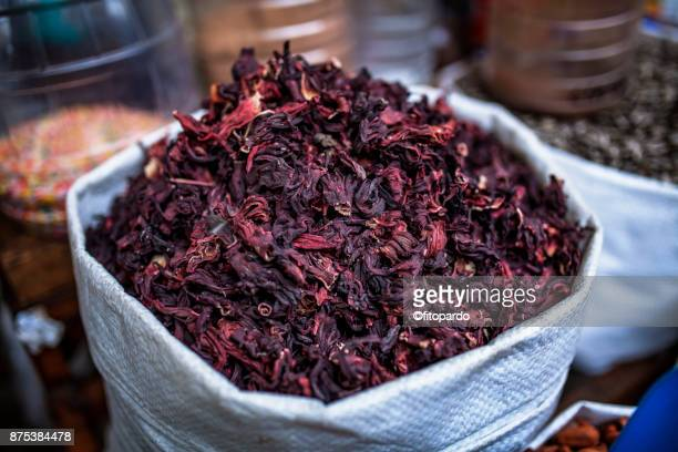roselle or hibiscus - hibiscus stock pictures, royalty-free photos & images
