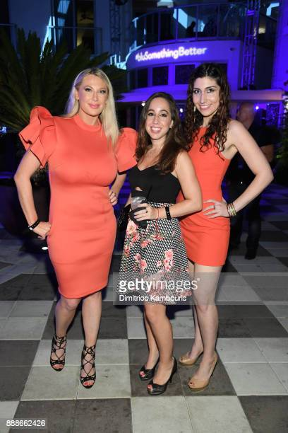 Roselyn Kasmire and guests attend the Maxim December Miami Issue Party Presented by blu on December 8 2017 in Miami Beach Florida