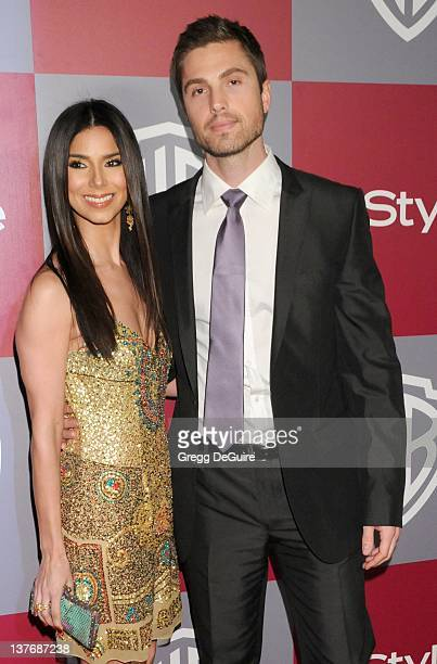 Roselyn Sanchez and Eric Winter arrive at the 12th Annual Warner Bros. And Instyle Post-Golden Globe Party at the Beverly Hilton Hotel on January 16,...