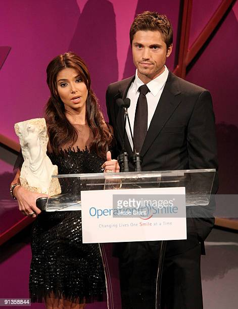 Roselyn Sanchez and Eric Winter attend the Operation Smile's 8th Annual Smile Gala at The Beverly Hilton Hotel on October 2 2009 in Beverly Hills...