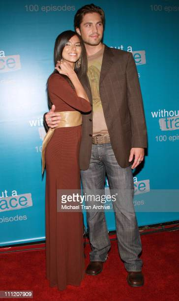 Roselyn Sanchez and Eric Winter during Without A Trace Celebrate Their 100th Episode Party Arrivals at Cabana Club in Hollywood California United...