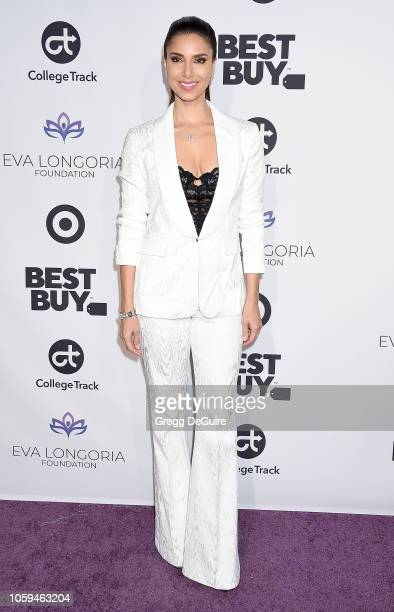 Roselyn Sanchez arrives at the Eva Longoria Foundation Dinner Gala at Four Seasons Hotel Los Angeles at Beverly Hills on November 8 2018 in Los...