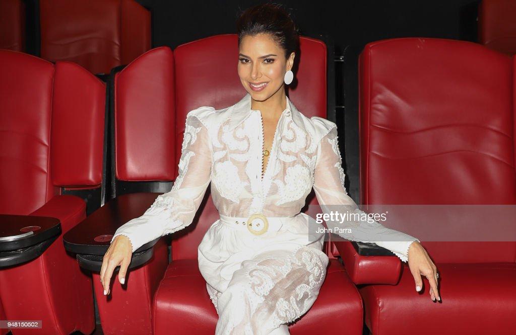Roselyn Sanchez attends the TRAFFIK Movie Premiere at Cinebistro on April 17, 2018 in Miami, Florida.