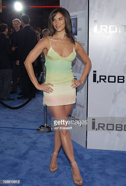 Roselyn Sanchez during 'I ROBOT' World Premiere Arrivals at Mann Village Theatre in Westwood California United States