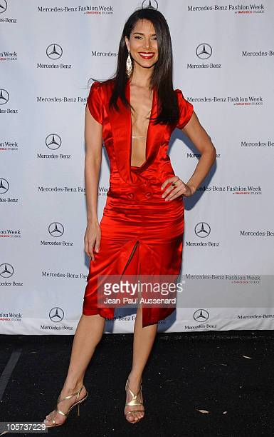 Roselyn Sanchez during MercedesBenz Fall 2005 LA Fashion Week at Smashbox Studios Day 5 Arrivals at Smashbox Studios in Culver City California United...