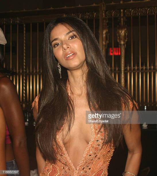 Roselyn Sanchez during Olympus Fashion Week Spring 2005 Chris Aire Jewelry Launch at Gotham Hall in New York City New York United States