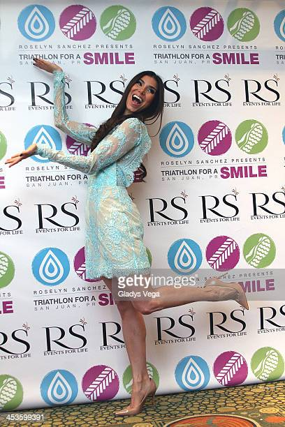 Roselyn Sanchez holds a press conference related to the event 'Triathlon For A Smile' on December 4 2013 in San Juan Puerto Rico