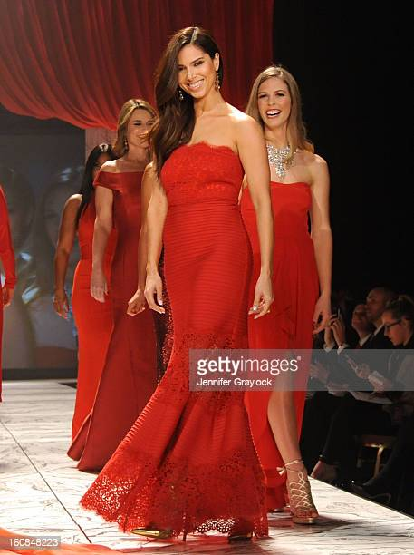 Roselyn Sanchez on the runway during The Heart Truth 2013 Fashion Show held at the Hammerstein Ballroom on February 6 2013 in New York City
