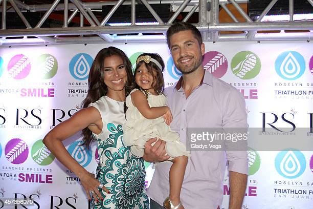Roselyn Sanchez Sebella Rose Winter and Eric Winter attend Roselyn Sanchez Triathlon for a Smile VIP Cocktail Party at Caribe Hilton Hotel on October...