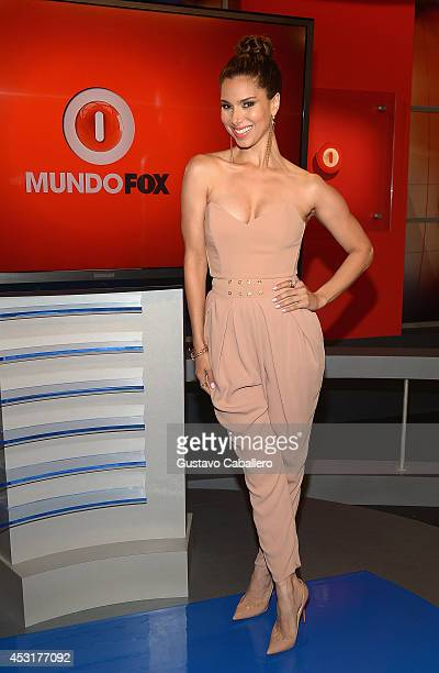 Roselyn Sanchez visits Mundo Fox on August 4 2014 in Miami Florida