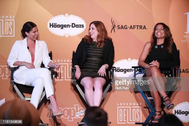 Roselyn Sánchez Rachel Miller and Lisa Vidal speak during People En Español's Más Bellos panel at 1 Hotel West Hollywood on May 23 2019 in West...