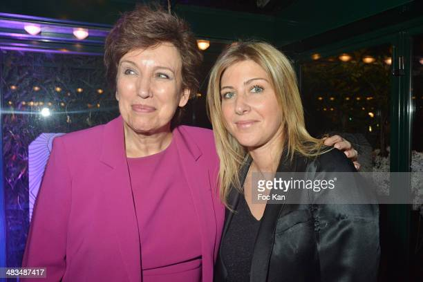 Roselyne Bachelot and Amanda Sthers attend La Closerie Des Lilas Literary Awards 2014 7th at La Closerie Des Lilas on April 8 2014 in Paris France