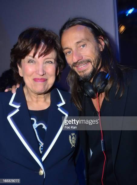 Roselyne Bachelot and Bob Sinclar attend the 'Paris By Night' Bob Sinclar CD Launch Concert Party At La Gaite Lyrique on April 2 2013 in Paris France