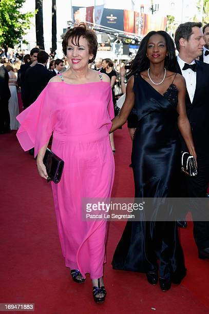Roselyne Bachelot and Hapsatou Sy attend the 'La Venus A La Fourrure' premiere during The 66th Annual Cannes Film Festival at Theatre Lumiere on May...