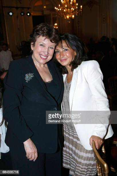 Roselyne Bachelot and Nicole Guedj attend the 'Vaincre Le Cancer' Gala 30th Anniverary at Cercle de l'Union Interalliee on May 17 2017 in Paris France