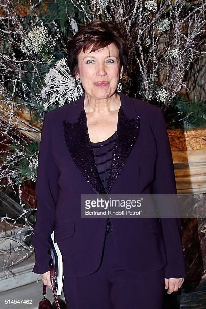 Roselyne Bachelot attends the Arop Charity Gala At the Opera Garnier under the auspices of Madam Maryvonne Pinault on March 9 2016 in Paris France