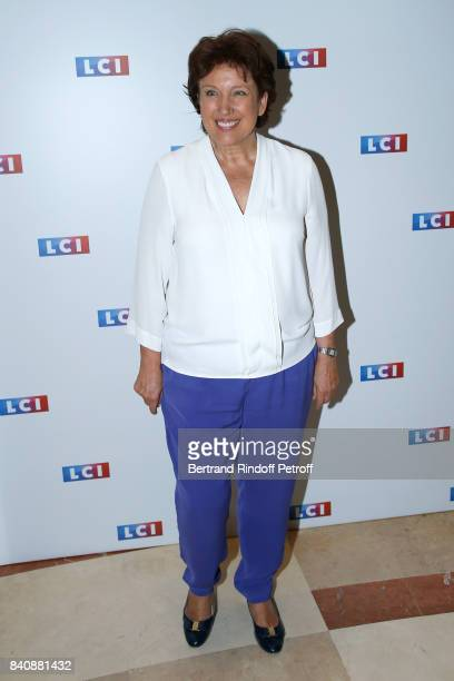 Roselyne Bachelot attends the LCI Press Conference to Announce Their TV Schedule for 2017/2018 on August 30 2017 in Paris France