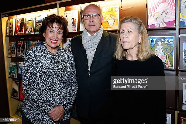 Roselyne Bachelot Narquin President of Musee du Quai Branly Stephane Martin and Miss Louis Schweitzer attend the Presentation of 'Martine Aublet...