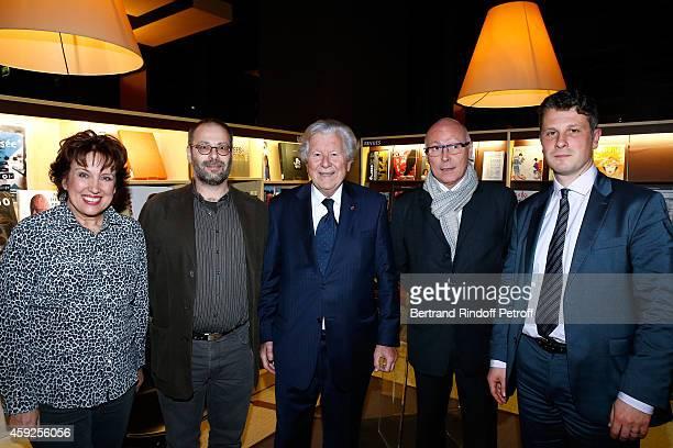 Roselyne Bachelot Narquin Professor of 'Chartes' School Nathan Schlanger President of 'Martine Aublet Foundation Bruno Roger President of Musee du...