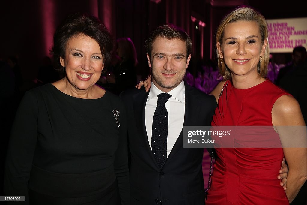 Roselyne Bachelot, Renaud Capucon and Laurence Ferrari attend the AIDES International Gala Dinner at Grand Palais on November 27, 2012 in Paris, France.