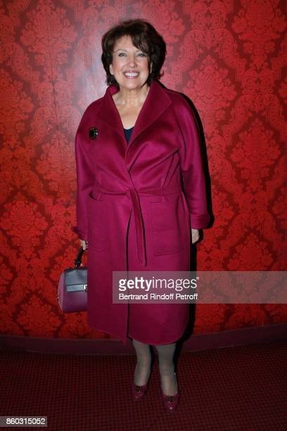 Roselyne BachelotNarquin attends the 'Novecento' Theater Play in support of APREC at Theatre Montparnasse on October 11 2017 in Paris France