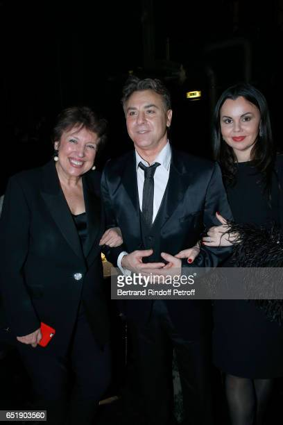 Roselyne BachelotNarquin Tenor Roberto Alagna and Soprano Alexandra Kurzak attend the AROP Charity Gala with the representation of Carmen at Opera...