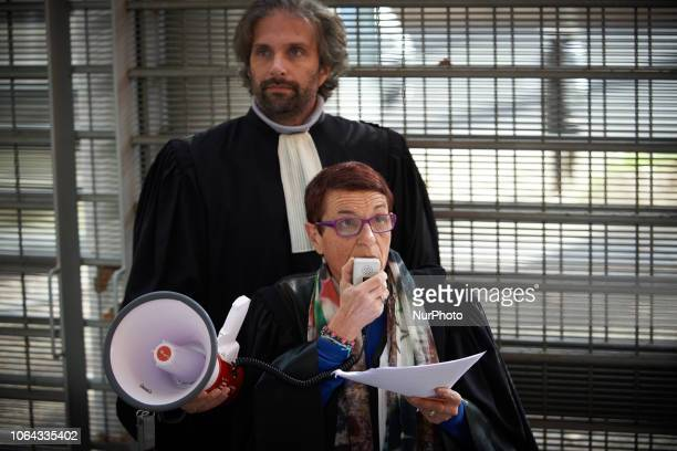 Roselyne Gonlé head of the Syndicat de la Magistrature in Toulouse speaks to lawyers counsels and magistrates Lawyers counsels and magistrates...