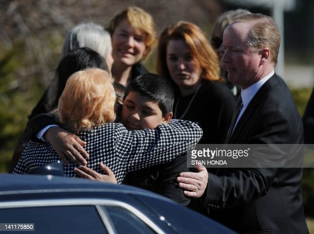 Rosemarie Colvin mother of slain journalist Marie Colvin The Times of London correspondent who was killed in Syria last month is comforted by family...